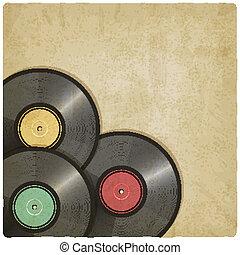 enregistrement, vieux, vinyle, fond