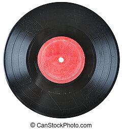enregistrement, vieux, vinyle