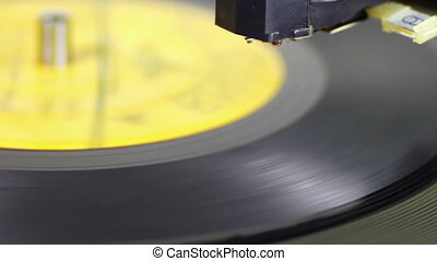 enregistrement, vieux, vinyle, jouer