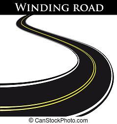 enrolamento, vetorial, estrada
