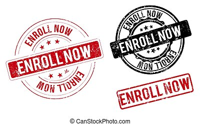 enroll now band sign. enroll now black-red round ribbon sticker