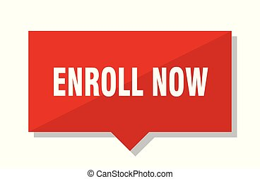 enroll now red tag - enroll now red square price tag