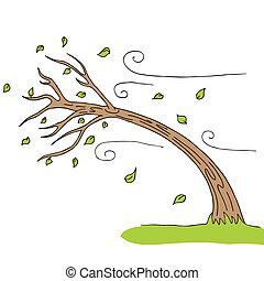 enrolle soplado, árbol