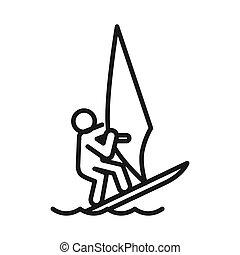 enrolle surf, ilustración, diseño