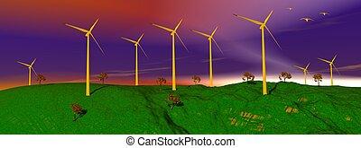 enrolle turbinas, en, naturaleza