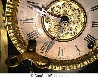 enroulement, horloge
