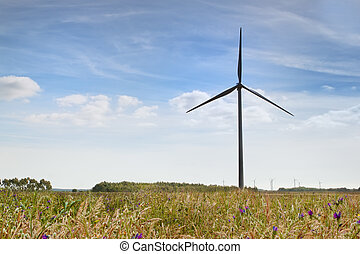 enroulez turbines, farm., énergie alternative, source.
