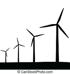 enroulez turbines, silhouette