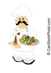 ensalada, chef