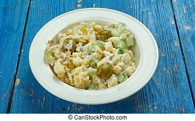 ensalada de bacalao, Traditional Catalan salad