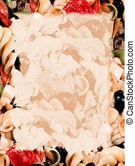 ensalada de pasta, descolorarse