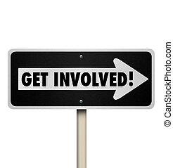 ensamblar, conseguir, implicado, compromiso, señal, participar, grupo, camino