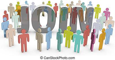 ensamblar, empresarios, sitio, miembro, social, o