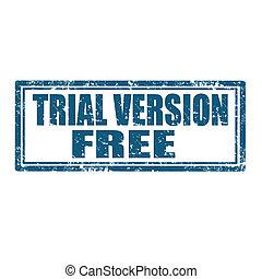 ensayo, free-stamp, versión