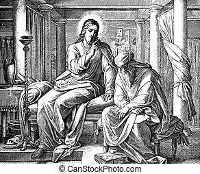 enseña, jesús, nicodemus