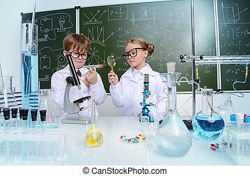 enseñanza, química, ciencia