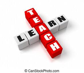 enseñar, aprender