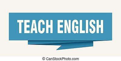 enseñar, inglés