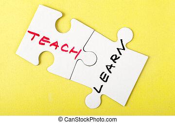 enseñar, y, aprender