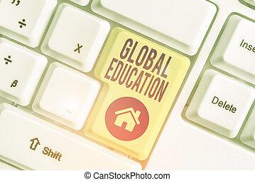 enseigné, une, education., texte, écriture, signification, améliorer, concept, idées, écriture, global, world., perception, s