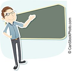 enseignant mâle, intelligent