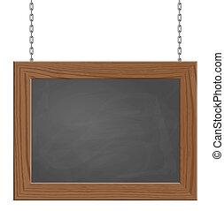 enseigne, chaînes, pendre