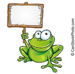 enseigne, grenouille