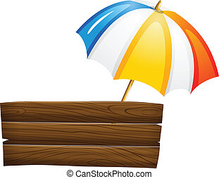 enseigne, parapluie, vide