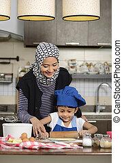 enseignement, femme, fille, musulman, elle