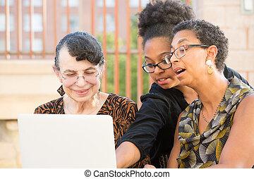 enseignement, ordinateur portable