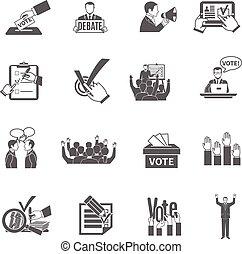 ensemble, élection, icônes