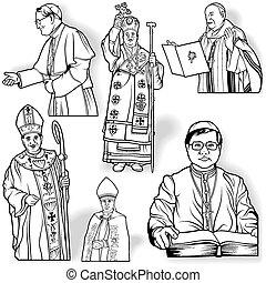ensemble, évêque