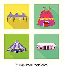 ensemble, abri, symbole, web., illustration, vecteur, marquise, baldaquin, logo., stockage