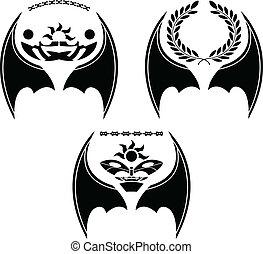 ensemble, ailes, dragon