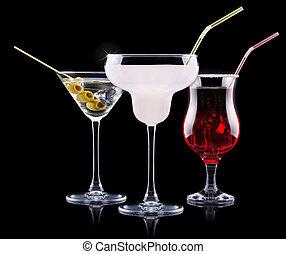 ensemble, alcool, cocktail