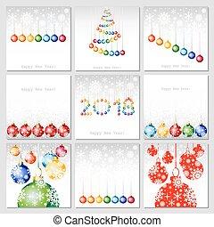 ensemble, année, salutation, ou, 2018, fond, minimalistic, branché, nouveau, template., carte, heureux