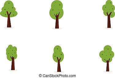 ensemble, arbre, collection, stockage