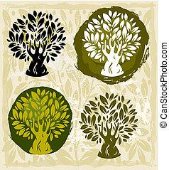 ensemble, arbres