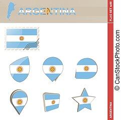 ensemble, argentine, ensemble, drapeau