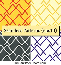 ensemble, arrière-plans, résumé, lignes, seamless, motifs, horizontal