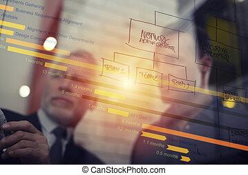 ensemble., association, business, reussite, concept, travail, gens, collaboration