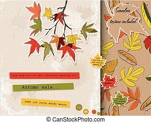 ensemble, autumn., sur, scrapbooking