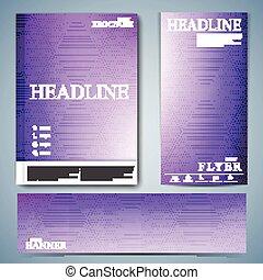 ensemble, aviateur, moderne, couverture, illustration, ou, brochure, vecteur, conception, livret, rapport annuel, taille, ton, a4