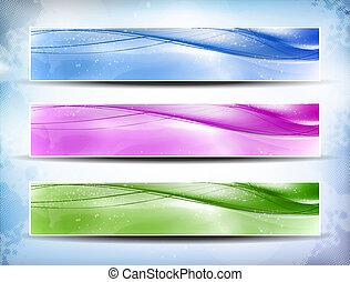 ensemble, bannière, coloré