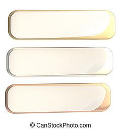 ensemble, bannière, or, coude, coin, argent, bronze