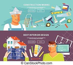 ensemble, bannière, rénovation