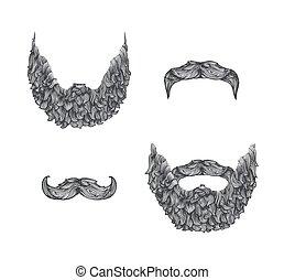 ensemble, barbe