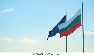 ensemble, bulgare, europe, drapeau