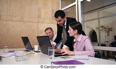 ensemble, bureau, fonctionnement, equipe affaires