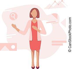 ensemble, bureau, moderne, ouvrier, illustration, vecteur, concepts